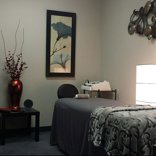 Relaxing microcurrent treatment room
